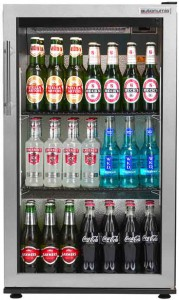 Popular Single Back Bar Bottle cooler stainless swing door front view