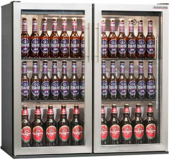 Popular double door bottle cooler stainless steel