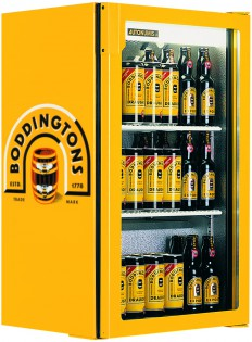 Popular single Back Bar Bottle Cooler branded Boddingtons